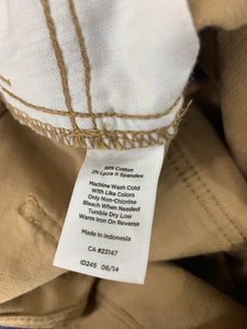 Talbots Women sz 4L Tan Corduroy Heritage 4 Pocket Pant Cotton Stretch Jeans