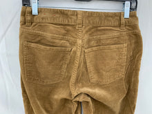 Load image into Gallery viewer, Talbots Women sz  2 Earth Brown Corduroy 5 Pocket Pant Cotton Stretch Jeans