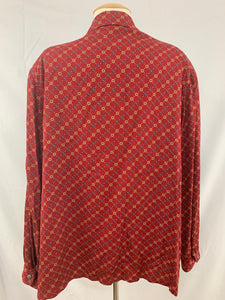 NWT EVAN -PICONE American Classics size 16 Red Button Down Shirt Top