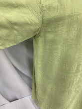 Load image into Gallery viewer, Men's summa mens short sleeve light green shirt sz L