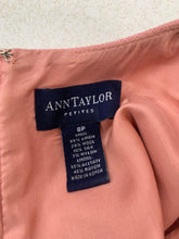 Load image into Gallery viewer, Ann Taylor Petites size 8P Womens Sheath Linen Blend Light Salmon Dress Sleevele