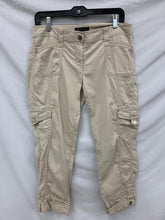 Load image into Gallery viewer, White House Black Market size 4 Beige Crop Leg Pants