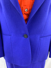 Load image into Gallery viewer, Evan-Picone 2 Piece Suit Size 10 Ocean Breeze Blue Jacket Skirt
