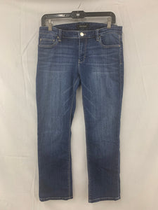 WHITE HOUSE BLACK MARKET Size 8 Crop Leg Denim Jeans Whiskered Women's