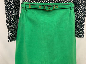 Vintage 1970's Cos Cob Green A Line Skirt Retro