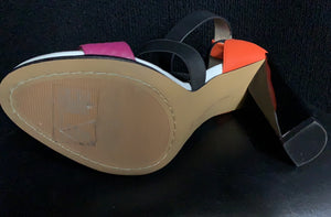 NEW French Connection Melody Pink Orange Dress Shoes Size 8