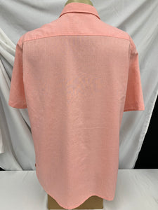 Men's Croft & Barrow Easy Care Short Sleeve Button Down Salmon Shirt size L