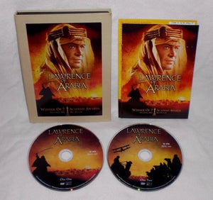 LAWRENCE OF ARABIA 1962 (DVD-2 disc Set)  Peter O'Toole/Omar Sharif