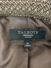 Load image into Gallery viewer, Talbots Petites Womens size 8P Wool Blend Lined Brown Tan Blazer Jacket