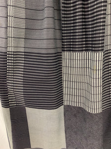 The Executive Woman size 14 Women's Skirt Gray Black White lines squares