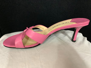 Nine West Pink Kitten Heel Leather Size 7 Pre Owned in