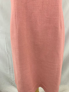 Ann Taylor Petites size 8P Womens Sheath Linen Blend Light Salmon Dress Sleevele