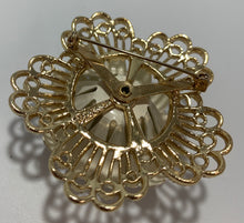 Load image into Gallery viewer, Sarah Coventry Vintage Metal White Enamel painted Flower Brooch/Pin