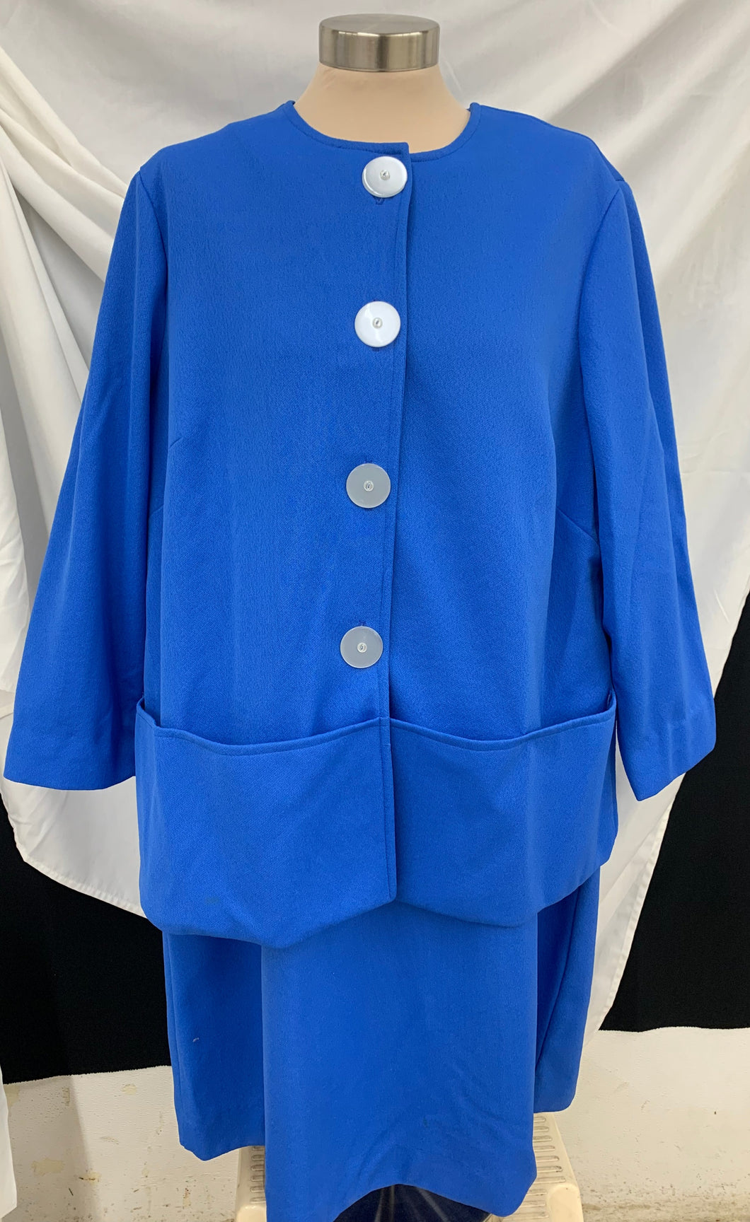 Vintage Handmade Dress And Jacket Set Plus Size
