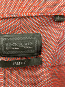 Blackberrys Size L (40cm)  Burgandy Trim Fit Button Down Shirt