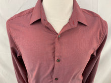 Load image into Gallery viewer, Blackberrys Size L (40cm)  Burgandy Trim Fit Button Down Shirt