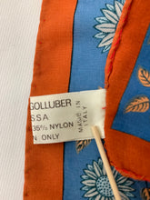 Load image into Gallery viewer, Robinson Golluber Acetate/Nylon Flower Scarf Vinatge