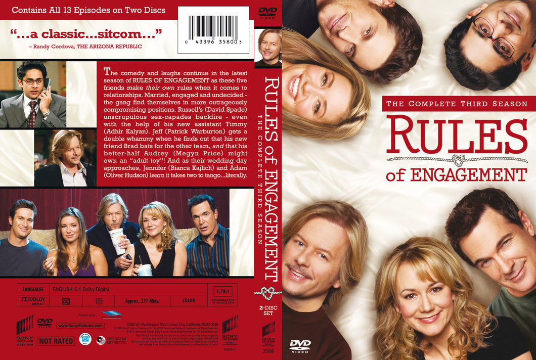 Rules of Engagement: The Complete Third Season ( DVD 2009, 2 Discs set)