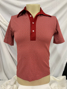 Sportswear by Revere Vintage Red Checkered Polo Shirt Sz Medium