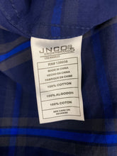 Load image into Gallery viewer, NWT Jnco Men's Crown Brand Button Front Navy Blue Long Sleeve Shirt Mens Size XL