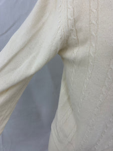 expression Women`s size M Ivory Cashmere Sweater