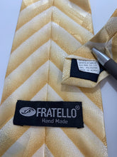 Load image into Gallery viewer, Fratello Brand 100% Polyester Yellow Tie