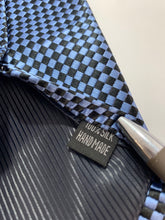 Load image into Gallery viewer, Verie God Brand 100 % Silk Blue Check Tie