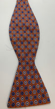 Load image into Gallery viewer, Haines & Bonner All Silk Adjustable Orange & Blue Bowtie