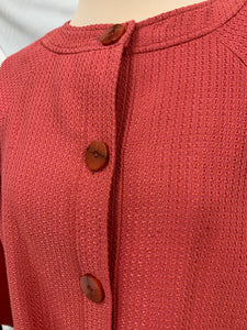 NWT Doncaster Jacket Womens Sz 12  Dark Salmon Jacket Button Front