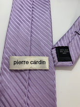 Load image into Gallery viewer, Pierre Cardin Purple 100% Silk Hand made Tie 59""