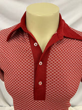 Load image into Gallery viewer, Sportswear by Revere Vintage Red Checkered Polo Shirt Sz Medium