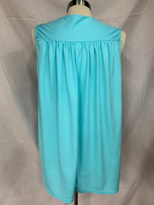 CW Classics Size large Sleeveless Light Blue Pullover FlowyTop Blouse