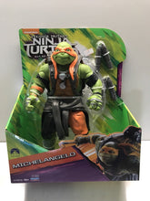 "Load image into Gallery viewer, NIB TEENAGE MUTANT NINJA TURTLES OUT OF THE SHADOWS MICHAELANGELO 10"" AC"