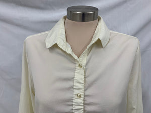 Vintage Collegian of California Womans Ivory Long Sleeve Top Blouse