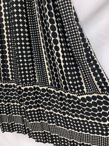 WHO WHAT WEAR Women's Black White Poka Dot Diamond Skirt