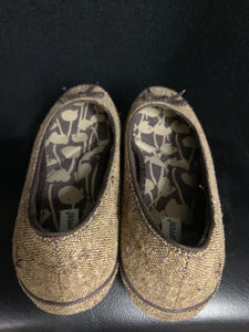 Grasshoppers Brand Slip on Shoes Brown Tweed Sz 6