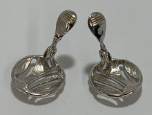 Load image into Gallery viewer, Vintage Monet Silver Tone Earrings Clip On
