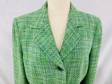 Load image into Gallery viewer, Le Suit size 12 Lime Green Yellow Ivory Woman's 2 pc. Set Long Sleeve Jacket Ski