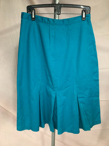 Natural Dimensions Size 16 Blue Front Pleated Skirt