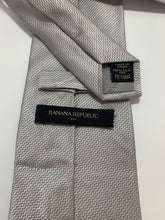 Load image into Gallery viewer, Banana republic Brand Gray 100% Silk Tie 58""