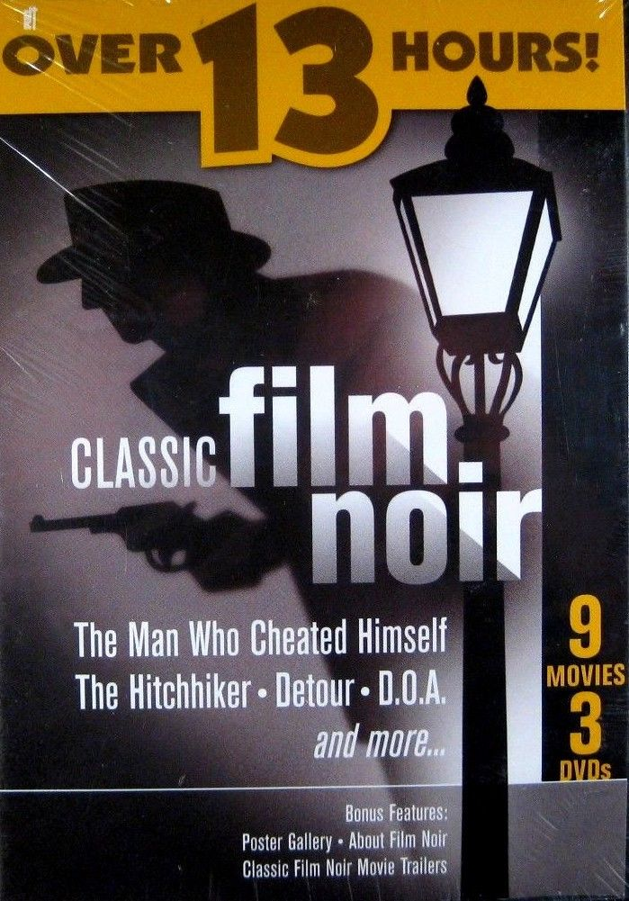 USED-Classic Film Noir (DVD-3 disc) 9 Films 13 hours
