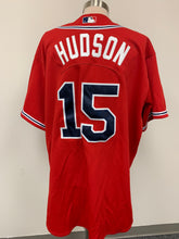Load image into Gallery viewer, Atlanta Braves MLB Hudson Authentic Collection Majestic Athletic Red Jersey sz 5