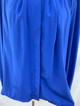 Load image into Gallery viewer, Gailord Size 14 Long Sleeve Button Down Blue Dress Blouse Top