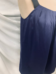 Ann Taylor Loft size small Blouse Top Shirt Sleeveless Pleated