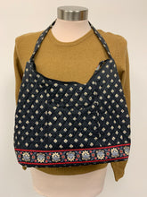 Load image into Gallery viewer, Vera Bradley Quilted Black Red Floral Handbag