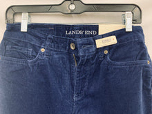 Load image into Gallery viewer, NWT LANDS' END Women's Straight Leg Blue Corduroy Pants Size 2 Fit 2 Tummy Cont