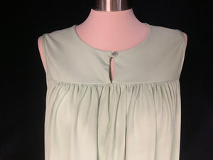 CW Classics Size large Sleeveless Mint Green Pullover FlowyTop Blouse
