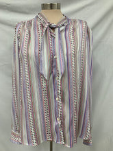 Load image into Gallery viewer, Evan Picone Vintage Long Sleeve Button Up Blouse W/ Tie Sz XL
