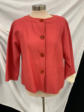 Load image into Gallery viewer, NWT Doncaster Jacket Womens Sz 12  Dark Salmon Jacket Button Front