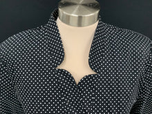 Load image into Gallery viewer, Olivia & Martin Dark Brown and White Poka Dot Jacket sz PXL